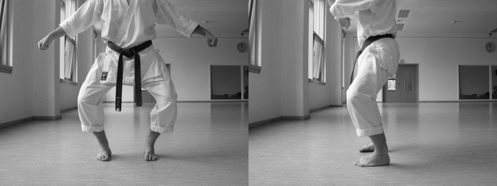 Abb. 7: Heiko Dachi mit nach außen gedrückten Knien